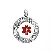 Crystal Medical Pendant 1 inch - HSKU:8019