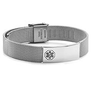 Stainless Medical Womens Mesh Bracelet