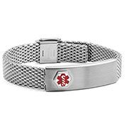 Stainless Mesh Medical Bracelet with Wallet Card Holder - HSKU:DTJ-25
