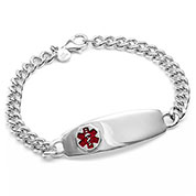 Sterling Silver Medical ID Bracelet - HSKU:DTJ-51X