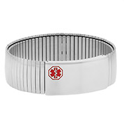 Mens Extra Large Medical Expansion Bracelet