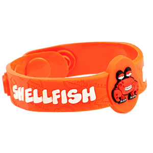 Crabby Shellfish Allergy Child Bracelet Fits 4 1/2 - 6 Inch