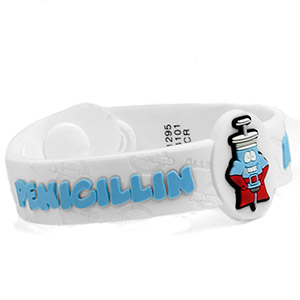 Penicillin Allergy Wristband: Mr. Supercillin - HSKU:AM10131