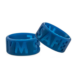 Thumb Band - IM Safe - Navy Blue - (Large) - HSKU:TH9703-L