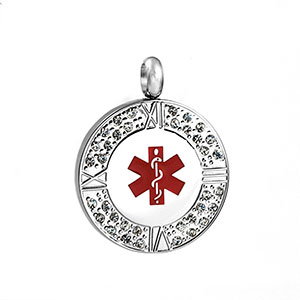 Crystal Medical Alert Personalized Pendant - HSKU:8019