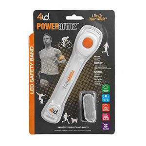 PowerArmz Orange - Adjustable LED Armband Multi-Lang