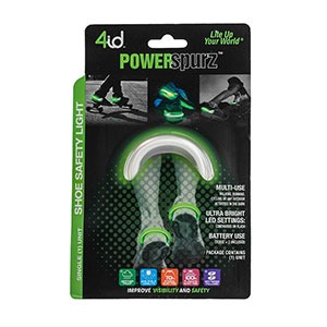 PowerSpurz Green - Light up Heel - Multilingual Packaging