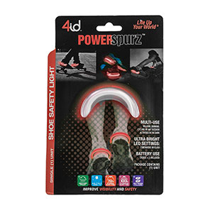 PowerSpurz Red - Light up Heel - Multilingual Packaging