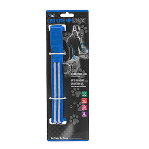 Dog Leash with Blue LED Lite Up for Safety