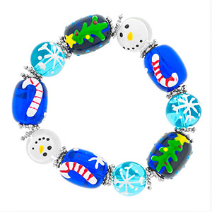 Winter Wonderland Bead Bracelet - HSKU:SP8101-B