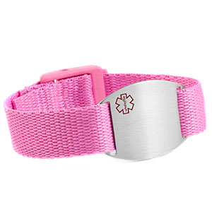 Pink Medical Bracelet for Kids or Adults