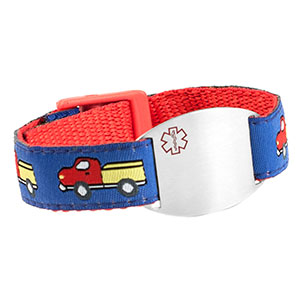 Keep on Truckin Childs Medical Bracelet
