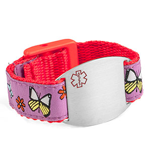 Butterfly Medical Alert Bracelet for Kids and Adults