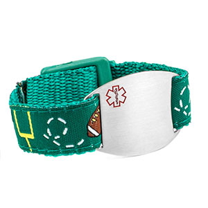 Football Medical Alert Bracelet for Kids and Adults