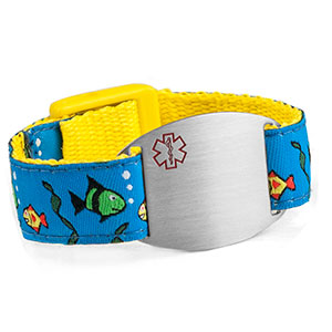 Fish Medical Alert Bracelet for Kids and Adults
