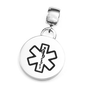 Personalized Medical Pendant on Large Bail