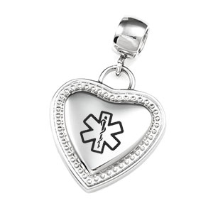 Medical Heart Charm Pendant