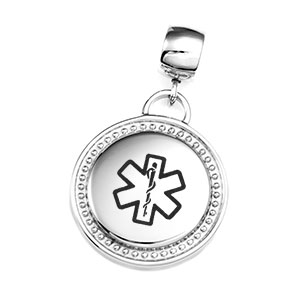 Medical Silver Pendant with Large Bail