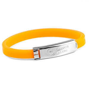 Camper Alert Bracelet - Orange - 6 1/2 - Medical ID - HSKU:1023