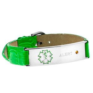 Kristens Bracelet - Green (FOR INSULIN DEPENDENT DIABETICS ONLY) - HSKU:LDMAB-G