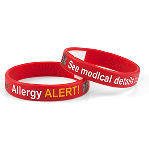 Mediband - Allergy Write on - Red - (Medium) - HSKU:2107-M