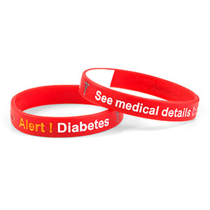 Mediband - Diabetes Write on - Red - (Large) - HSKU:2108-L