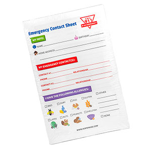 In Case of Emergency Notepad - 50 Sheets per pad - HSKU:ICE-Notepad
