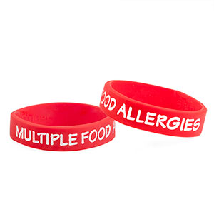 Multiple Food Allergies Bracelet for Kids - 3 Pack - Small) - HSKU:9503-S3