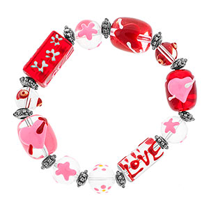 Love is in the Air Beaded Bracelet - HSKU:SP8099-B