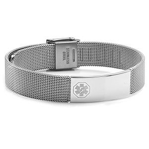 Stainless Medical Womens Mesh Bracelet - HSKU:DTJ-24