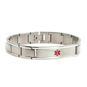 Stainless Classic Link Mens Medical Bracelet - HSKU:8039