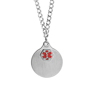 Stainless Medical  Necklace with 2 Pendants - HSKU:DTJ-34X